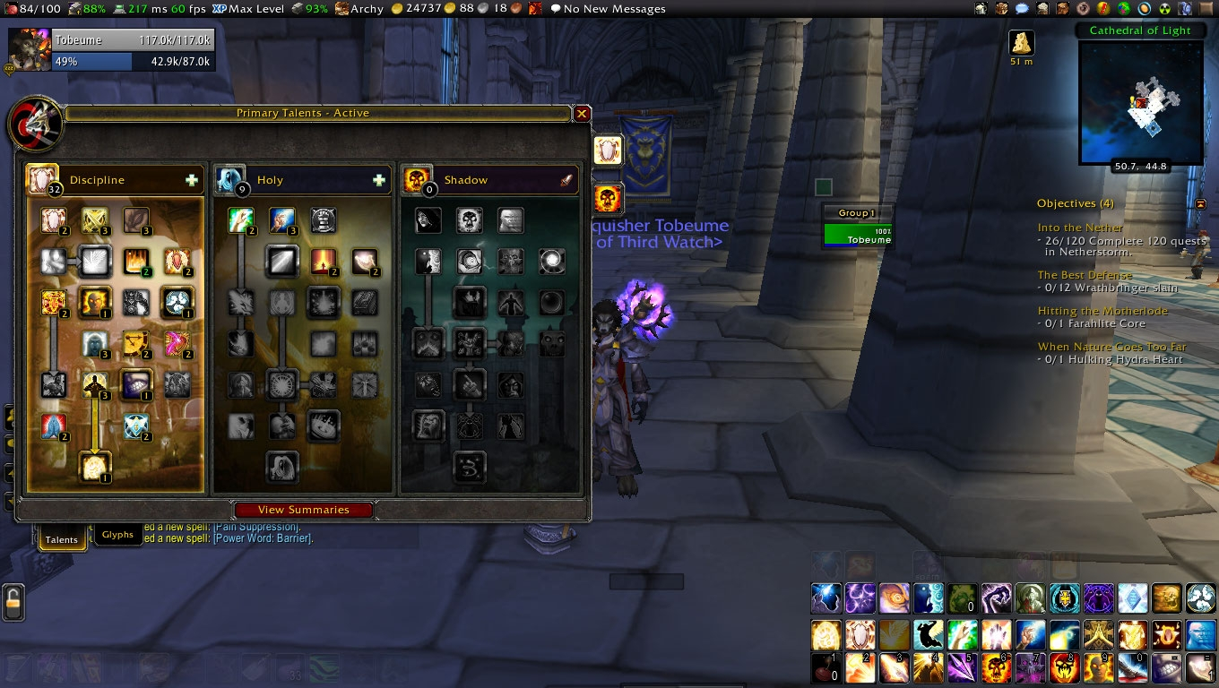 Disc Priest S Guide To Pvp Part 1 Talents Glyphs And Gear The Nonchalant Priest